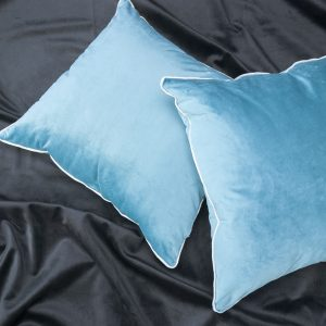 Set 2 perne decorative 45x40cm Turquoise